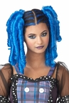 Blue Clip on Anime Curls Pigtail Wig and Hairscara