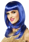 Bold Blue So Fine Wig