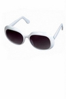Bright White Rounded Square Sunglasses