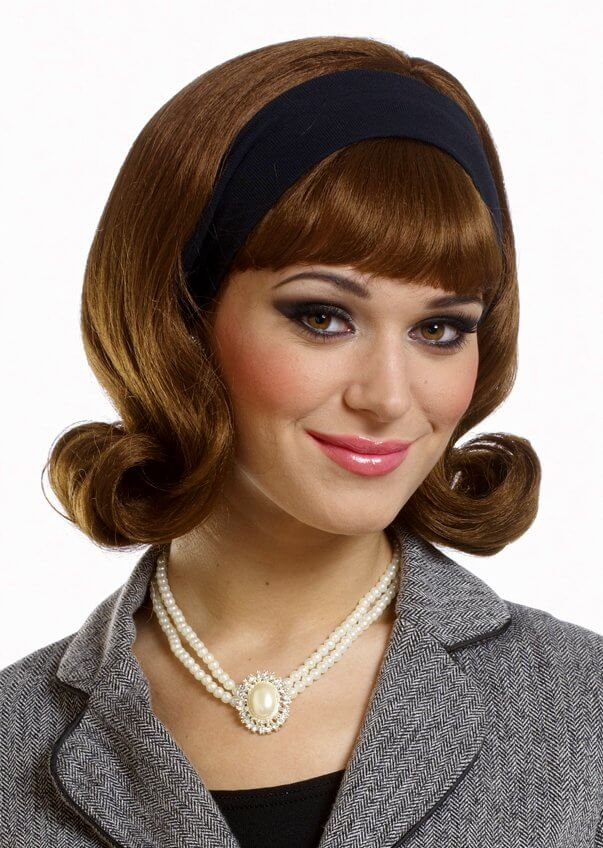 Brown 60 S Flip Wig 70 S Costumes