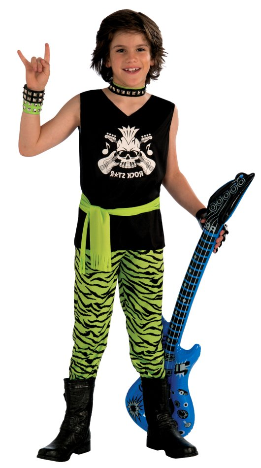 Childs 80s Rock Star Dude Kids 80s Costumes Celebrity Costumes