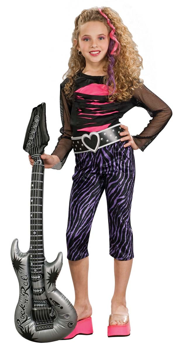 Child S 80 S Rock Star Girl Costume Candy Apple Costumes