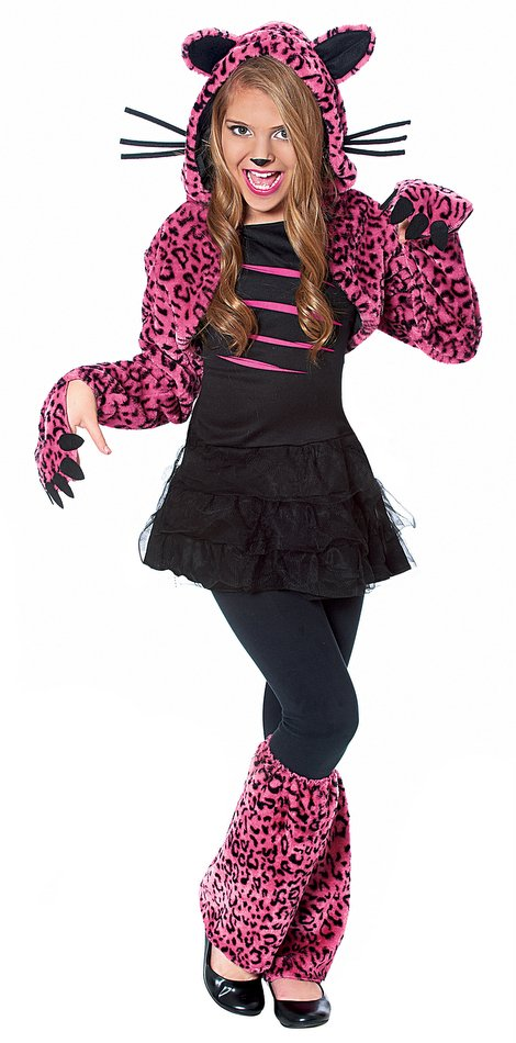 Childu0027s Bad Kitty Hot Pink Leopard Costume  sc 1 st  Candy Apple Costumes & Childu0027s Bad Kitty Hot Pink Leopard Costume - Candy Apple Costumes ...