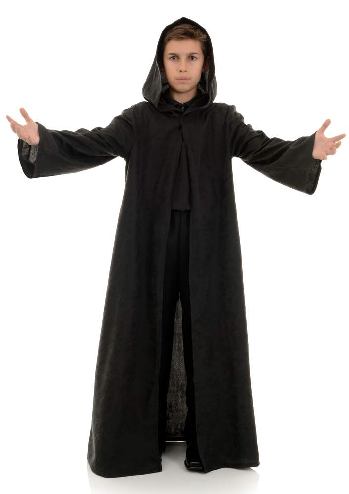 Child\'s Black Hooded Cloak - Candy Apple Costumes - Grim Reaper Costumes