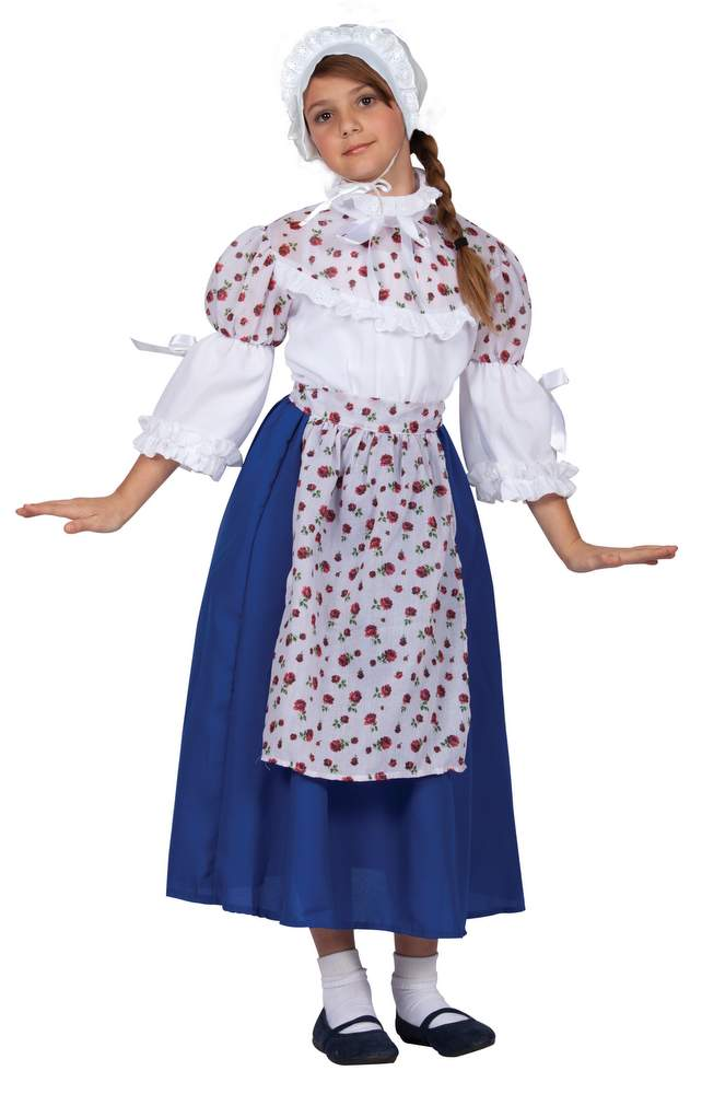 Childu0027s Blue Floral Colonial Girl Costume  sc 1 st  Candy Apple Costumes & Childu0027s Blue Floral Colonial Girl Costume - Candy Apple Costumes ...