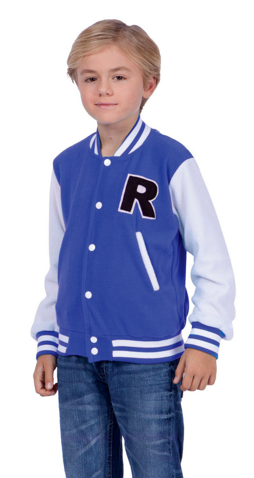 Child S Blue Letterman Jacket Costume 50 S Costumes 50