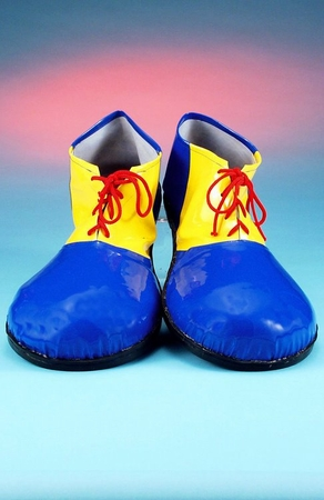 Child's Blue/Yellow Clown Shoes
