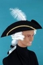 Child's Colonial Tricorne Hat With White Wig
