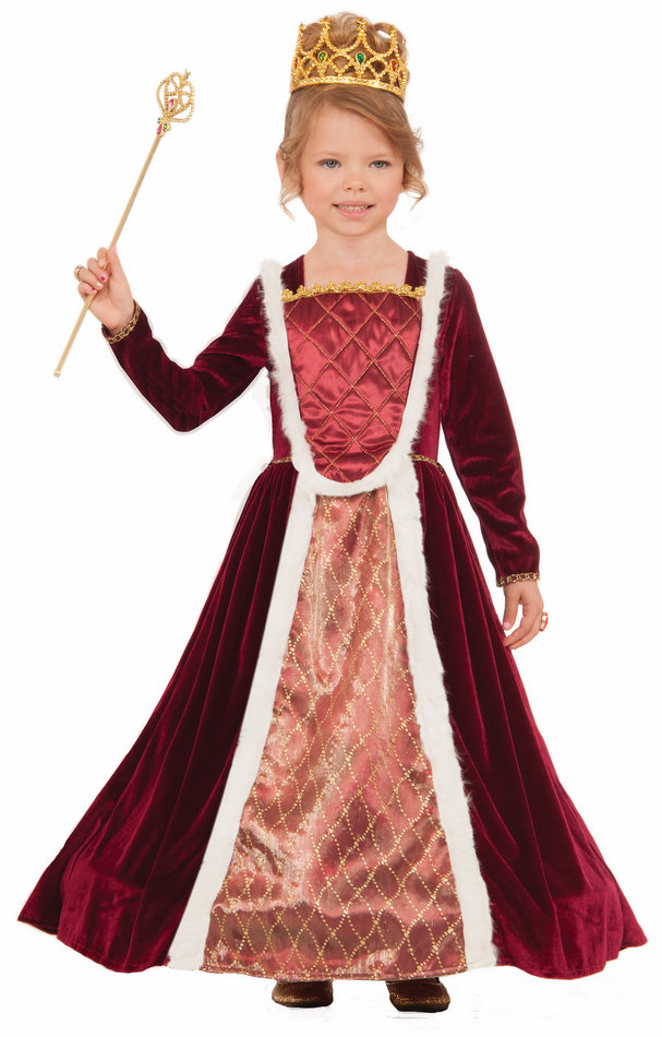 childs designer royal medieval queen costume candy