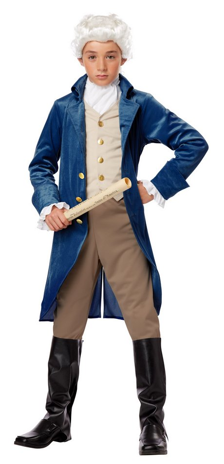 George Washington Founding Father US President Colonial French Boys Costume M