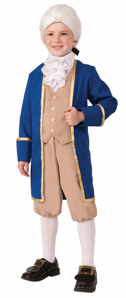 Brand New Presidents George Washington Thomas Jefferson Child Costume