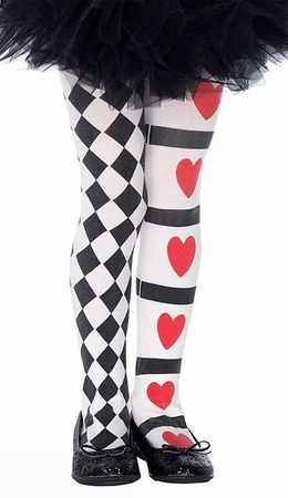 Child's Harlequin Heart Tights