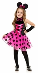 Child's Hot Pink Little Miss Mouse Costume