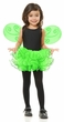 Child's Lime Green Pixie Tutu and Wings Set