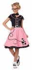 Child's Pink 50's Sweetheart Costume