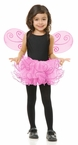 Child's Pink Pixie Tutu and Wings Set