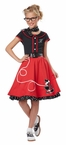 Child's Red 50's Sweetheart Costume