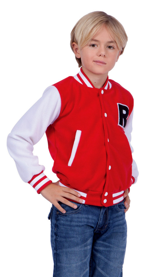 86402b9fbd1a Child s Red Letterman Jacket Costume