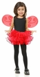Child's Red Pixie Tutu and Wings Set