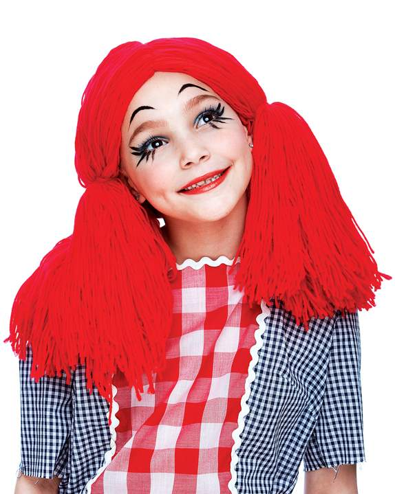 Red Yarn Rag Doll Wig - Adult or Child - Candy Apple Costumes - Circus Ring  Master Costumes 3bf189f91