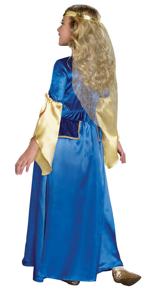 ... Childu0027s Renaissance Princess Costume - Blue/Gold  sc 1 st  Candy Apple Costumes : blue princess costume  - Germanpascual.Com