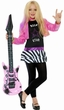 Child's Rockstar Glam 80's Costume