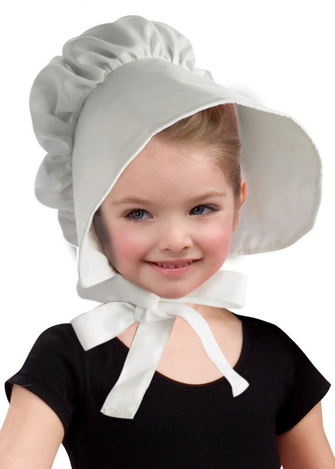 dbcffb70b1a Child s Cloth Colonial Bonnet - Candy Apple Costumes - Heroes in History