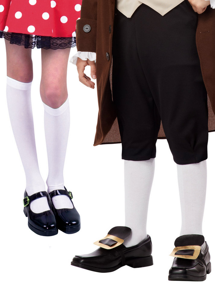 844229a9910 Child s White Knee High Stockings - Candy Apple Costumes ...