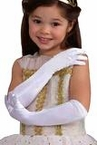 Child's Satin Opera Gloves - White, Black, or Red