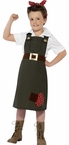 Child's WWII Rosie the Riveter Munitions Worker Costume