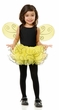 Child's Yellow Pixie Tutu and Wings Set