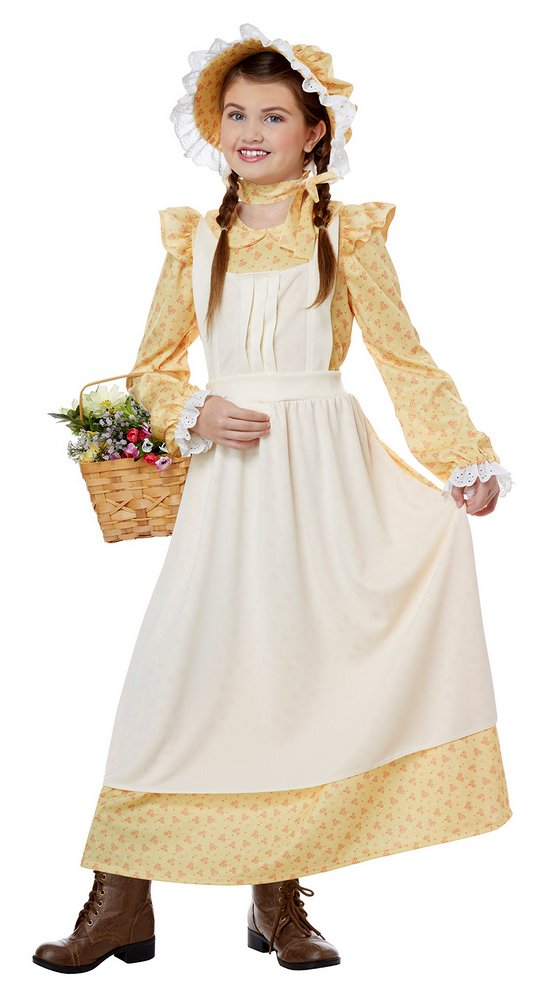 Childu0026#39;s Yellow Pioneer Girl Costume - Candy Apple Costumes - Black History Month Costumes