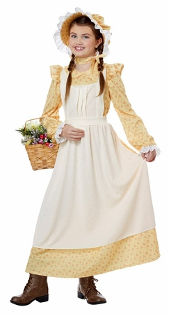 Child's Yellow Pioneer Girl Costume