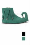 Child Size Elf/Jester Shoes - Green or Black