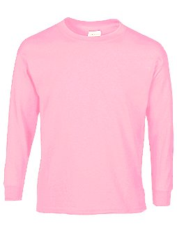 Child Size Pink Long Sleeve Tee Shirt