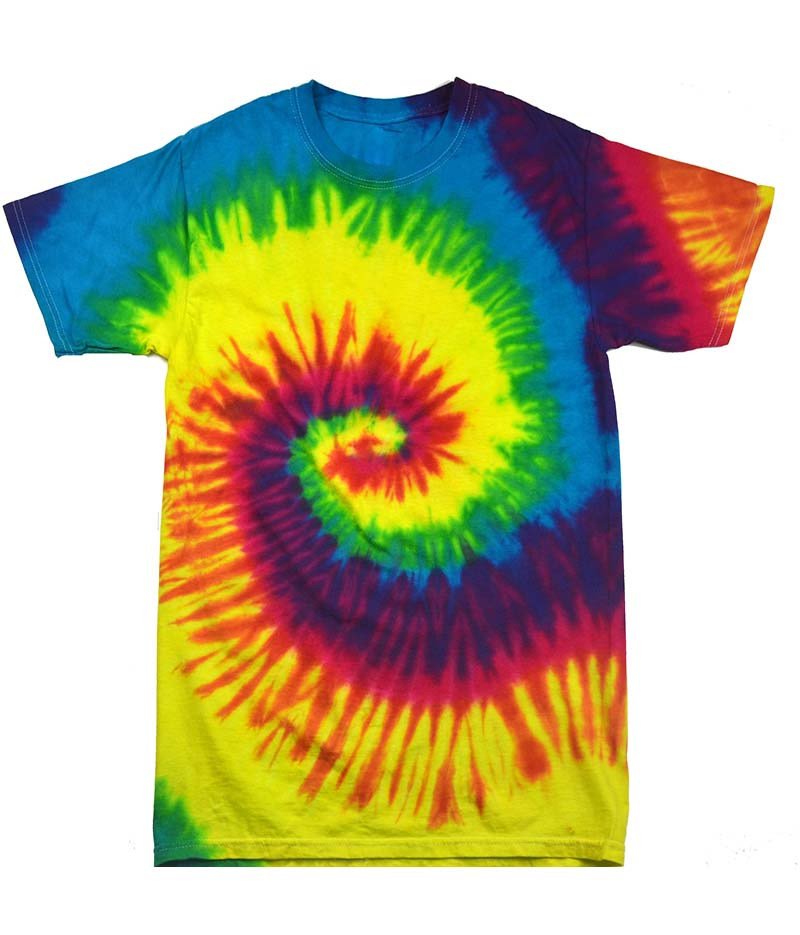 64024a84ef4 Child Size Reactive Rainbow Tie Dye Tee Shirt - Candy Apple Costumes - 60 s  Costumes