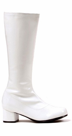 Child Size White Knee High Go Go Boots