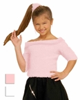 Child's 50s Sock Hop Top - Pink or White