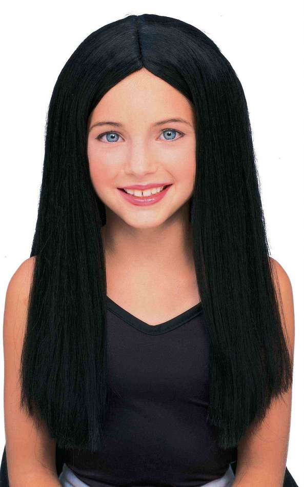 Child s Long Black Wig - Children s Wigs and Costumes - 60 s Costumes b89ff22b3fc2