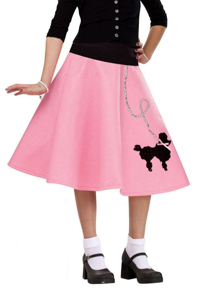 e92cc7d7c3245 Child's Pink 50's Poodle Skirt - Candy Apple Costumes - Kids' 50's ...