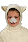 Child's Sheep Hood and Nose Set