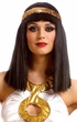 Cleopatra Wig With Gold Sequin Headband