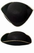 Black Colonial Tricorne Hat With Gold Trim - Adult or Child