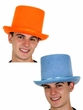 Colorful Felt Top Hat - Powder Blue or Orange