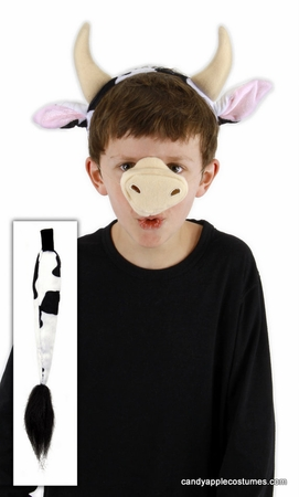 Cow Ears and Tail Costume Set