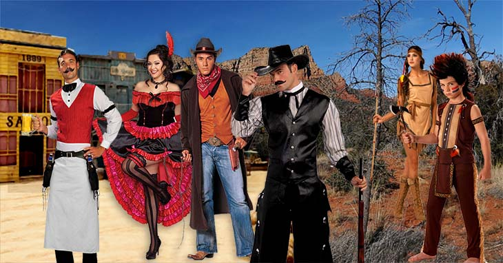 Image result for cowgirls/ cowboys costumes.. with guns