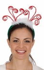 Curly Antlers Christmas Headband
