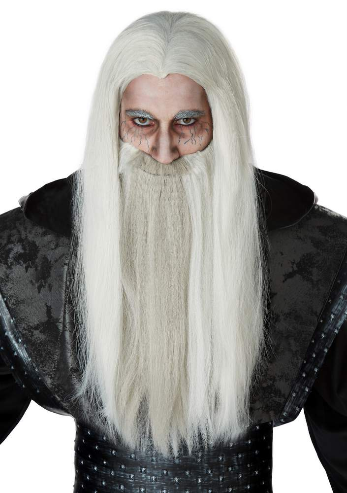 Dark Wizard Light Gray Wig and Beard  sc 1 st  Candy Apple Costumes : dark wizard costume  - Germanpascual.Com