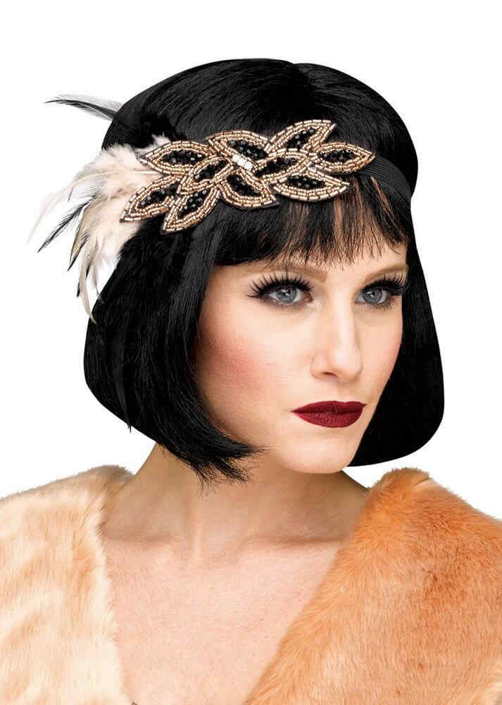 Deluxe 1920 s Champagne Beaded Flapper Headband · Deluxe 1920 s Champagne Beaded  Flapper Headband 9ef46e006d2