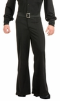 Deluxe Adult Black Bell Bottom Disco Pants